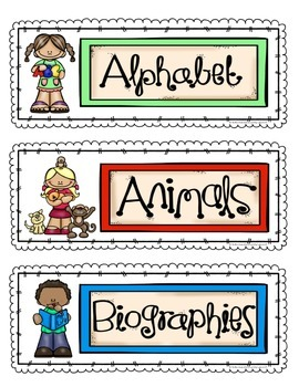 Topic Labels to Organize Your Classroom Library