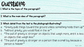 Topic, Main Idea, Details Digital Resource (2nd Grade)