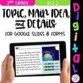 Topic, Main Idea, Details Google Digital Resource (2nd Grade)