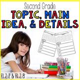 Topic, Main Idea, Details RI.2.2 RI.2.8