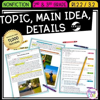 Main Idea and Details - 2nd Grade RI.2.2 & 3rd Grade RI.3.2