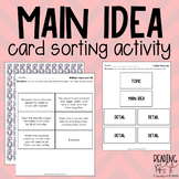 Topic, Main Idea, & Details Sorting Cards