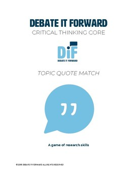 Topic Quote Match