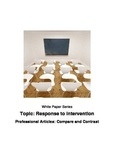 Response to Intervention Professional Articles: Compare and Contrast