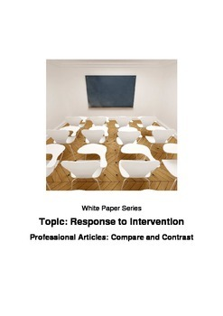 Response to Intervention Professional Articles: Compare an
