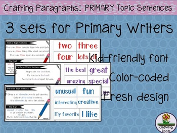 Topic Sentences for PRIMARY Writers