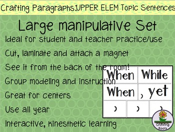 Topic Sentences for UPPER Elementary