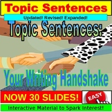 Topic Sentence Lesson, Writing PowerPoint