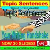 Topic Sentence: The Writer's Handshake PowerPoint, Google Slides