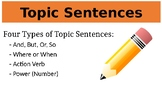 Topic Sentence Powerpoint - Teaching Four Types of Topic Sentences