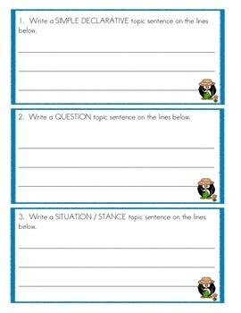 Topic Sentence Practice - Summer Gardens Informative Writing