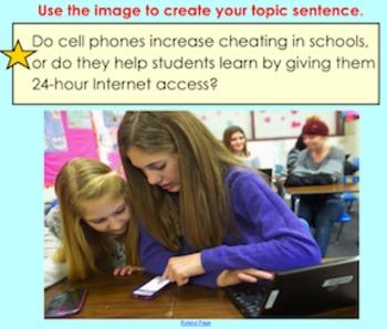 Topic Sentence Slides - Middle School High Interest