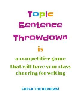 Topic Sentence Throwdown