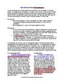 Topic Sentence vs. Thesis Statement Handout