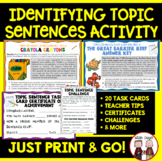 Topic Sentences Activity