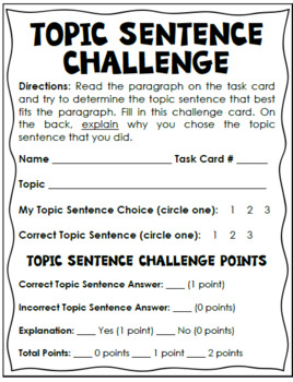 Sentence topic