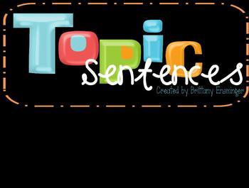 Topic Sentences Flipchart