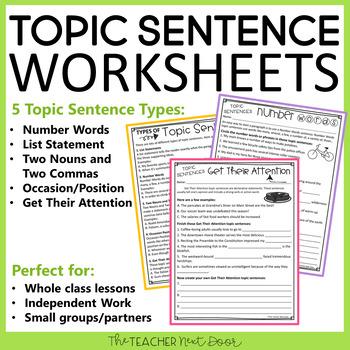 Super six topic sentences pdf