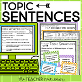 Topic Sentences in Paragraph Writing: Print and Digital | Distance Learning