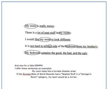 Topic Sentences - a new formula, notes, explanations, examples . . .
