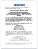 Topic Sentences - a new formula, notes, explanations, exam