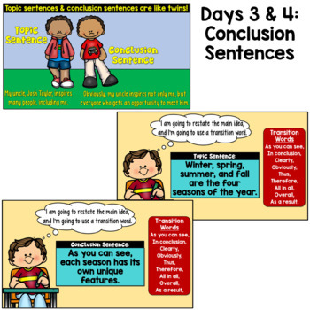 Topic Sentences and Conclusion Sentences