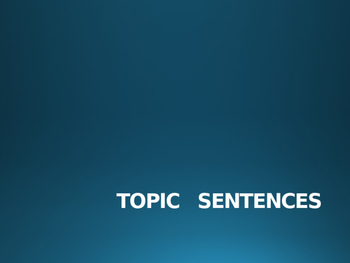 Topic Sentences for Middle School Research Papers