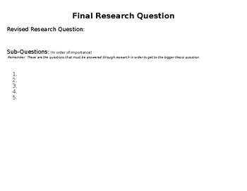 Topic Splash (iSearch / Research Project) (EDITABLE)