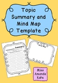 Topic Summary and Mind Map Template