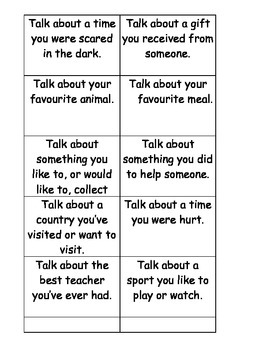 Topic Talk Cards / Social Skills