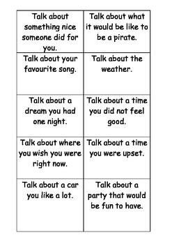 Topic Talk Cards / Social Skills