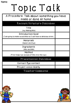 Topic Talk ProcedureLetter