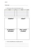 Topic Tally Worksheet - Español