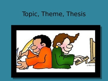 Topic, Theme, and Thesis PowerPoint