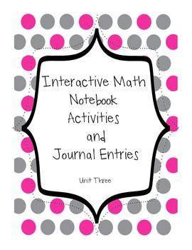 Topic Three Math Notebook
