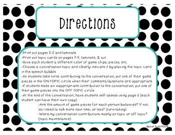 Topic & Turn Taking! Conversation Game