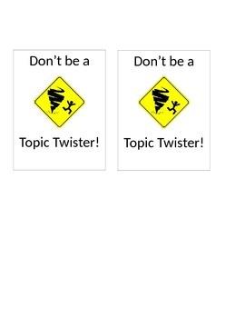 Topic Twister Visual Aid: Conversation Help