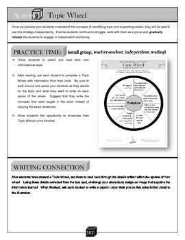 Topic Wheel – Key Details Activity