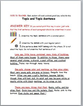 Topic and Details: Practice with Informational Texts