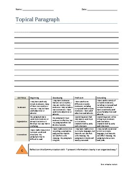 Topical Paragraph Organizer