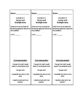 Topics 1-16 Envisions Exit Ticket Bundle