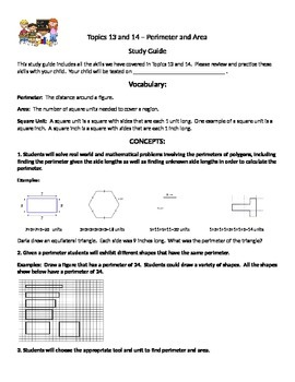 Topics 13 and 14 Envision Math Study Guide