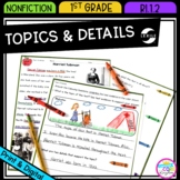 Main Topic & Details in Nonfiction - 1st Grade RI.1.2