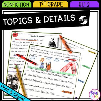 Topics & Details in Nonfiction- RI.1.2