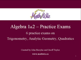 Topics In Algebra 1 and 2 - Practice Exams A
