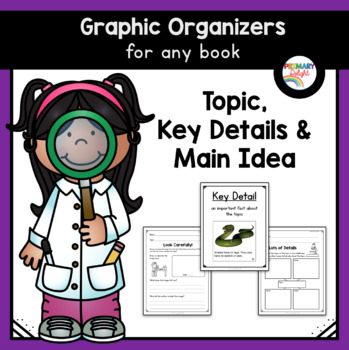 Reading Graphic Organizers for Non-Fiction: Topic, Details & Main Idea
