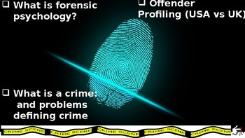 Topics@Psychology #7: An Intro to Forensic Psychology and Offender Profiling