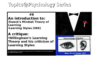 Topics@Psychology #8: An introduction to Growth Mindset and Learning Styles
