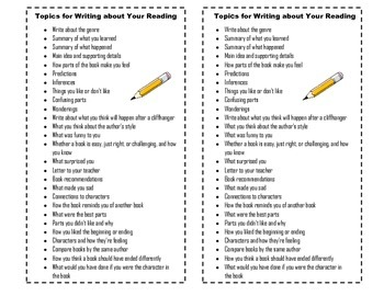 Topics for Writing about Your Reading