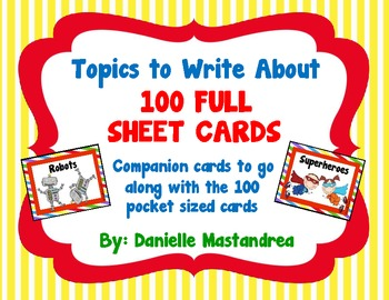 Topics to Write About- 100 FULL SIZE cards